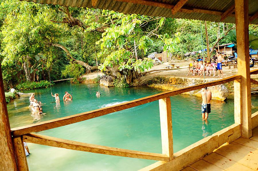Blue Lagoon in Vang Vieng 1